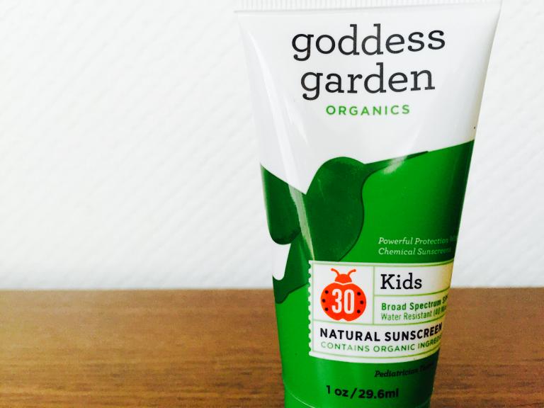 赤ちゃん・子供の顔用日焼け止めにgoddess gorden(ゴッデスガーデン)オーガニクスを購入